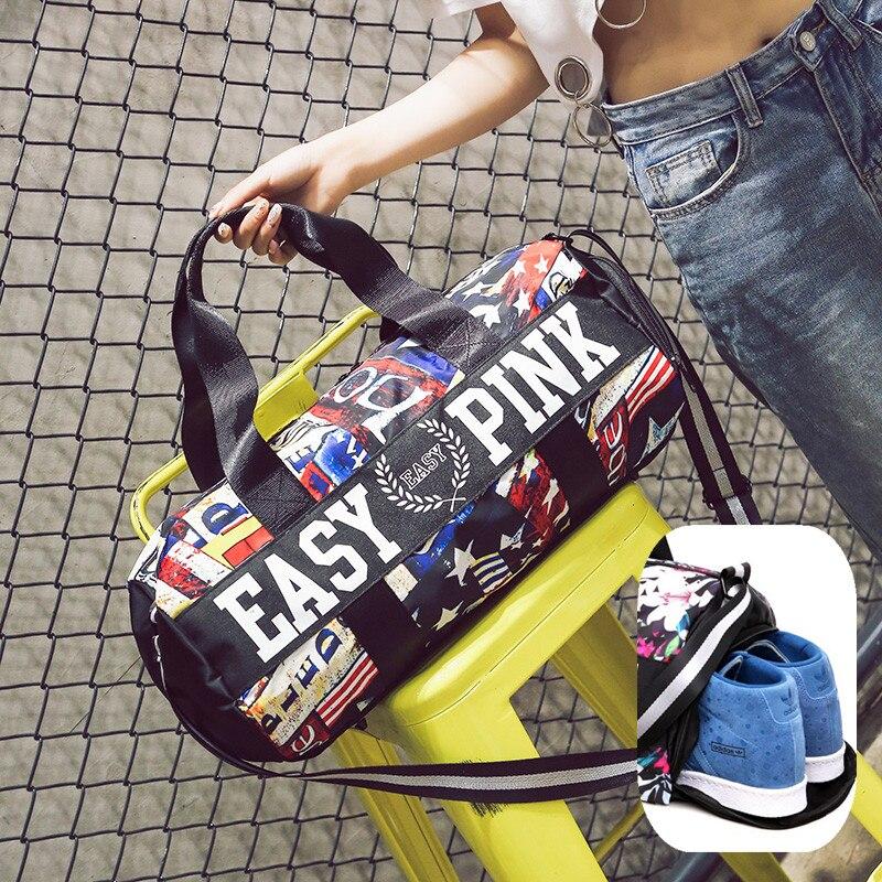 Топ женский многофункциональный Gym bag независимых Обувь карман сумки Фитнес плечо сумка Training Йога Коврики Вещевой Спортивная Сумка
