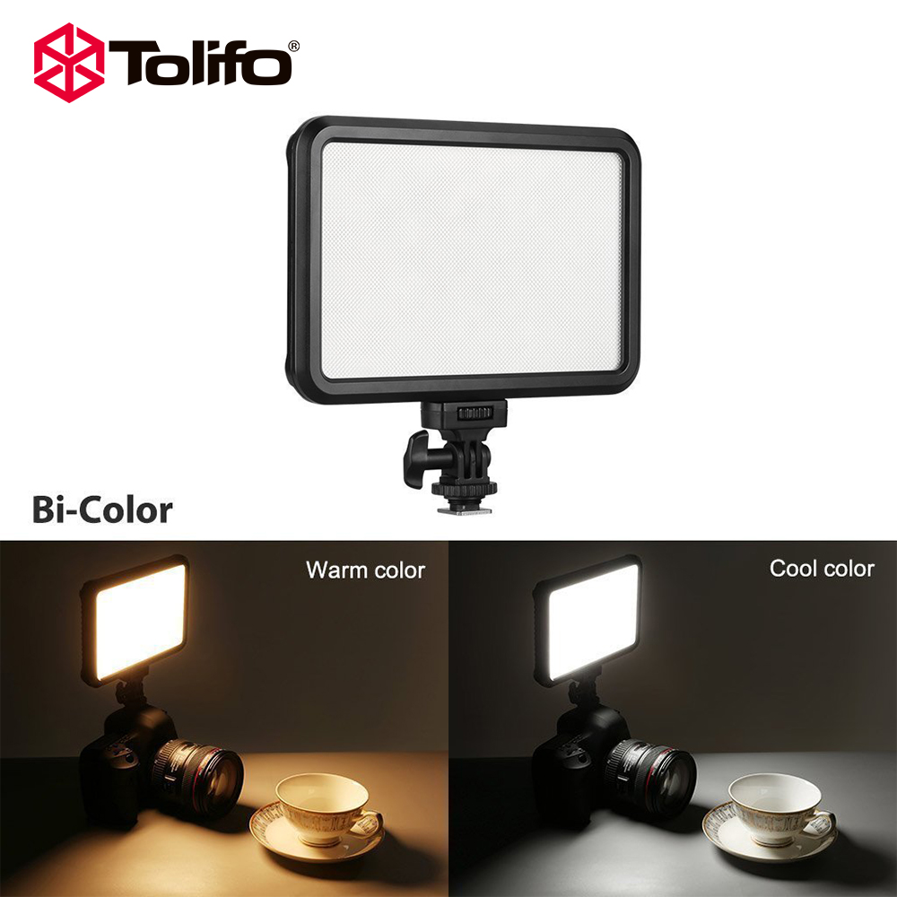 Tolifo Pt 12b Slim Ultra Thin Bi Color Led Video Camera Light with Touch Switch and