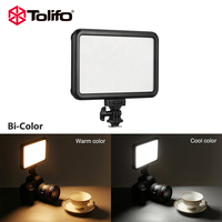 Tolifo Pt 12b Slim Ultra Thin Bi Color Led Video Camera Light with Touch Switch and Shadow Invisible for Baby Photography