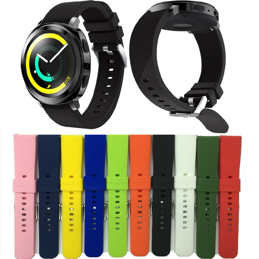 Silicone Strap for Samsung Gear Sport Watch 20mm Band Replacement Wristband for Gear Sport in Smart Wearable Accessories