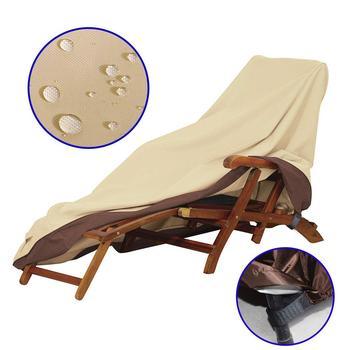 Wodoodporne zewnętrzne meble ogrodowe tarasowe pokrowce na krzesła pokrowce na krzesła przeciwdeszczowe Sofa stół i krzesła odporny na kurz osłona przeciwsłoneczna tanie i dobre opinie Poliester