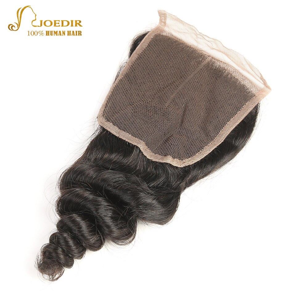 JOEDIR hår förfärgat brasilianskt löst djupt stängande 4x4 - Barbershop - Foto 2