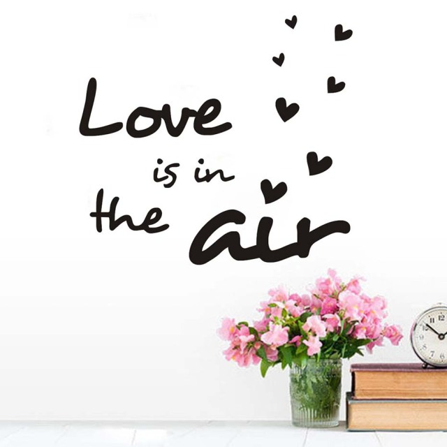 Love Is In The Air Wall Decals Home Love Wall Stickers Quotes - Vinyl wall decals home party