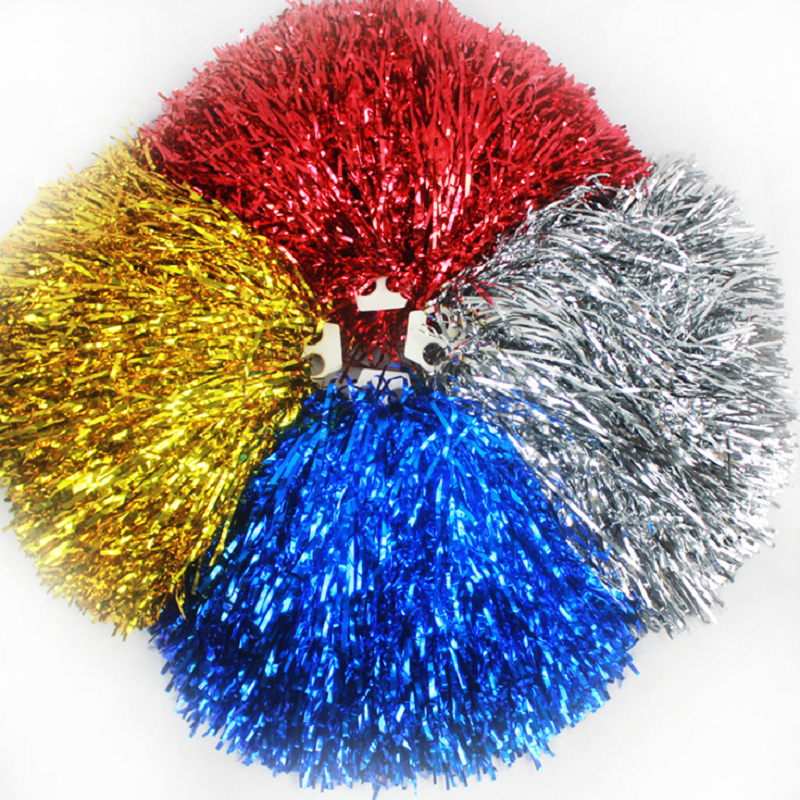 2pc Game Cheerleader Cheerleading Pom Poms Cheerleading Pompoms  Cheer Pom Majorettes Hand Flower Aerobics Balls Sports Item 40g