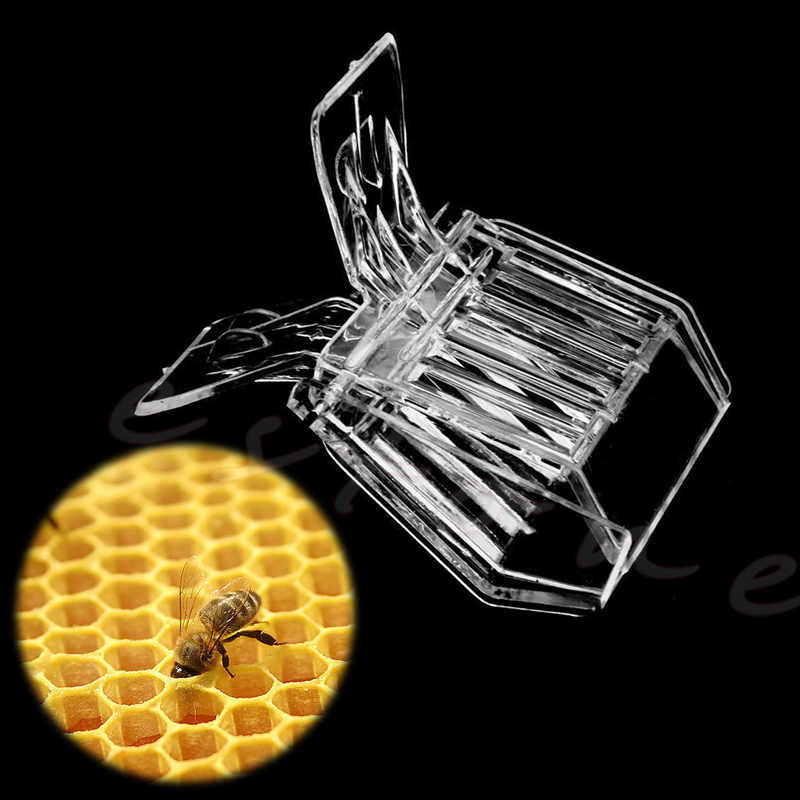 NEW 1pc Plastic Queen Cage Clip Bee Catcher Beekeepers Beekeeping Tools