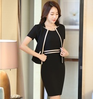 Summer Short Sleeve Formal OL Styles Work Suits With Jackets And Dress Ladies Blazer Outfits Uniforms