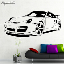hot deal buy black classic car wall sticker home decor for boy bedroom removable waterpoof vinyl wall stickers mural poster home decor