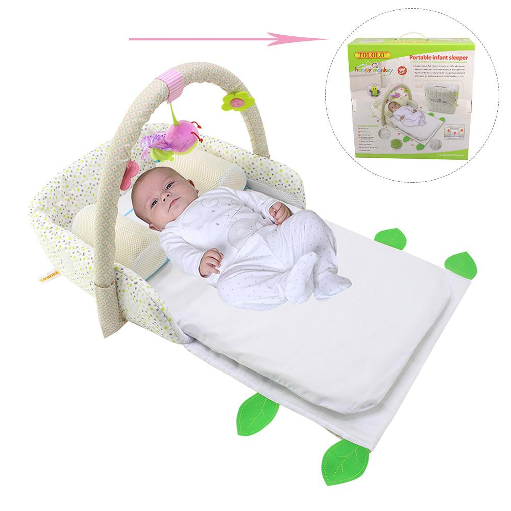 Portable Baby Crib Nursery Travel Folding Baby Bed Bag ...