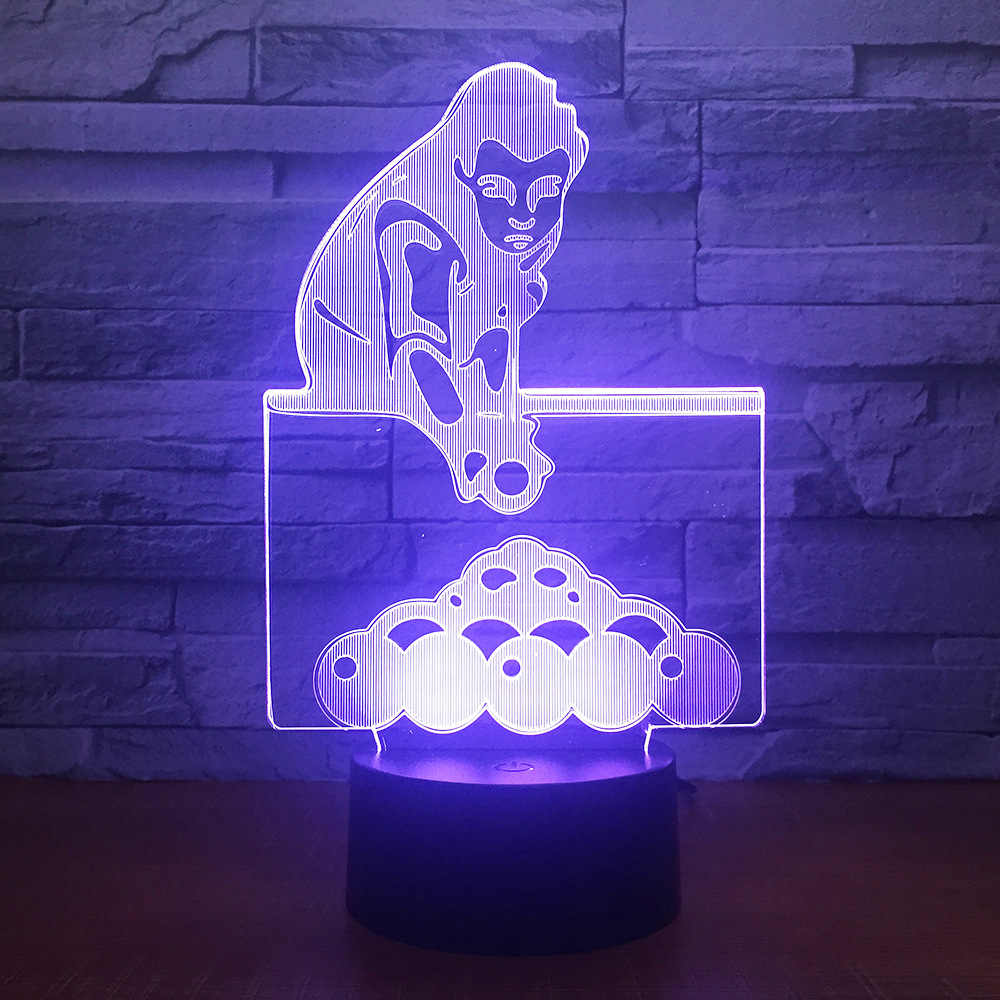 Table Tennis 3d Night Light Home Decoration LED USB Table Lamp Amazing Visualization Optical Illusion Lighting