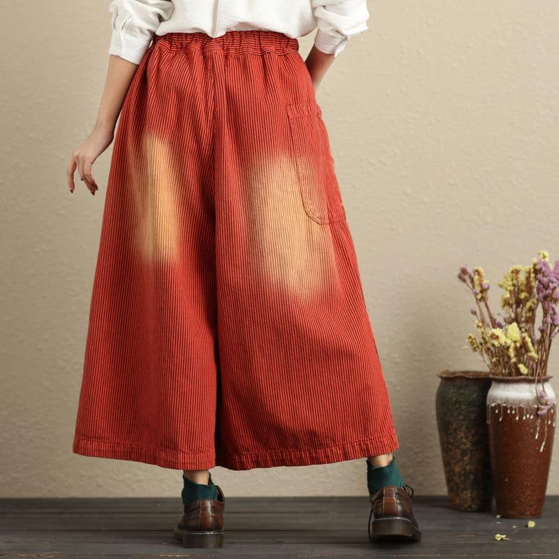 Invierno Falda Ancha Moda Nueva Cintura Tamaño Pierna 1 La Las Mujeres Elástica De pantalón 2018 Calle Otoño Plus Para Pantalones wAF7qx