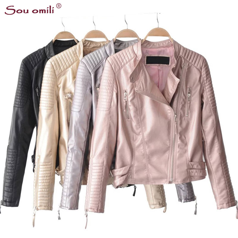 Online Get Cheap Pink Leather Jacket -Aliexpress.com   Alibaba Group