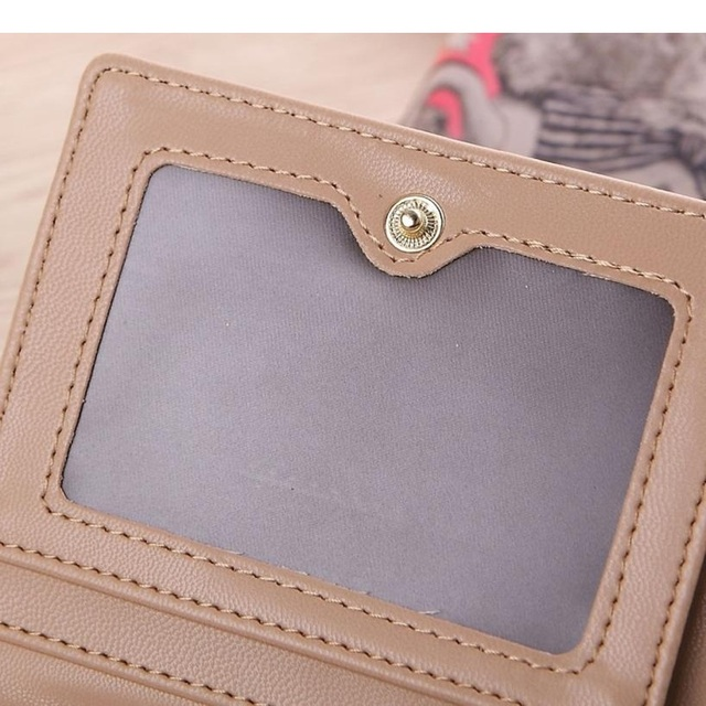 Naivety 2016 New Women Vintage Giraffe Pattern Short Wallet Purse Portable Clutch Monedero 11S60927 drop shipping 1