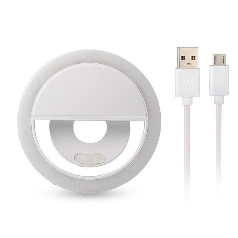 Универсальная портативная селфи-лампа с ЖК-вспышкой для iPhone 8; 7; 6 Plus; Samsung (36 светодиодов)