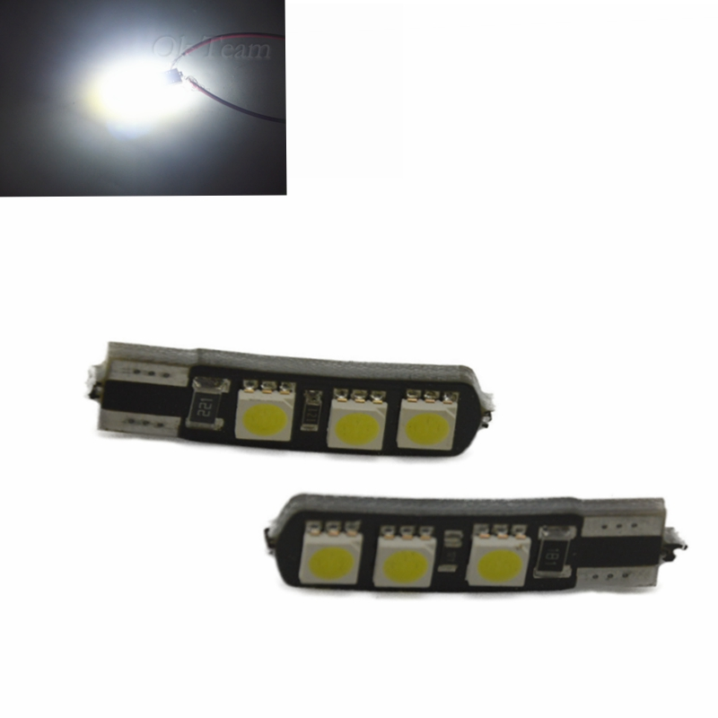 10pcs High Power Double No Error T10 LED 194 168 W5W Canbus 6SMD 5050 LED Car Interior Bulbs Light Parking Width Lamps Universal image