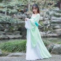 Djgrster Традиционный китайский костюм для танцев Для женщин с длинным рукавом народный танец костюм национальный костюм для женщин Hanfu Костюм...