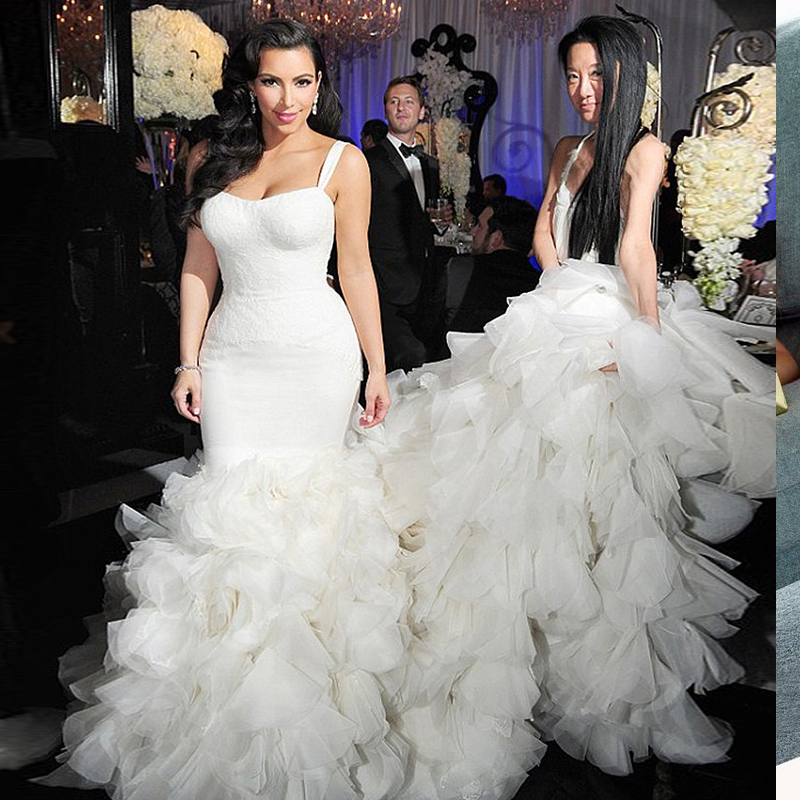 Robe De Mariee Gorgeous 2016 Mermaid Wedding Dresses Ruffles Long - Star Wedding Dress