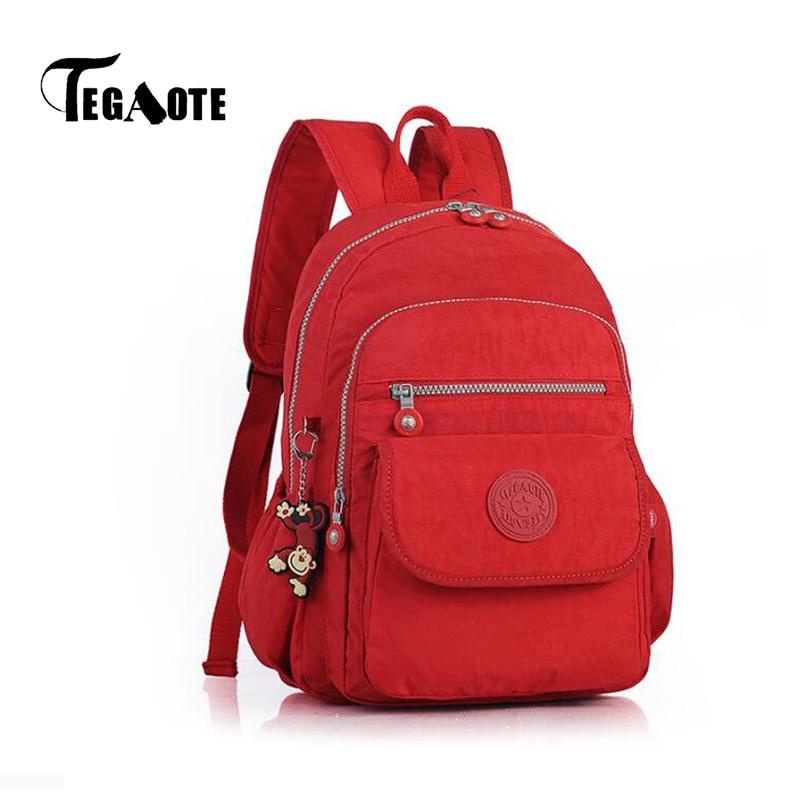 60e6b31ab0e9 TEGAOTE Women Small Backpack for Teenage Girl Backpacks Bag Mini Mochila  Feminine Bolsa Casual Nylon Waterproof Bagpack 2019-in Backpacks from  Luggage ...