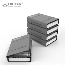 "QICENT 5Psc/lot Portable 3.5"" External SATA IDE SAS Hard Drive Storage Protective Case Cover – Gray"