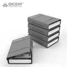 "QICENT 5Psc/lot Portable 3.5"" External SATA IDE SAS Hard Drive Storage Protective Case Cover – Gray"