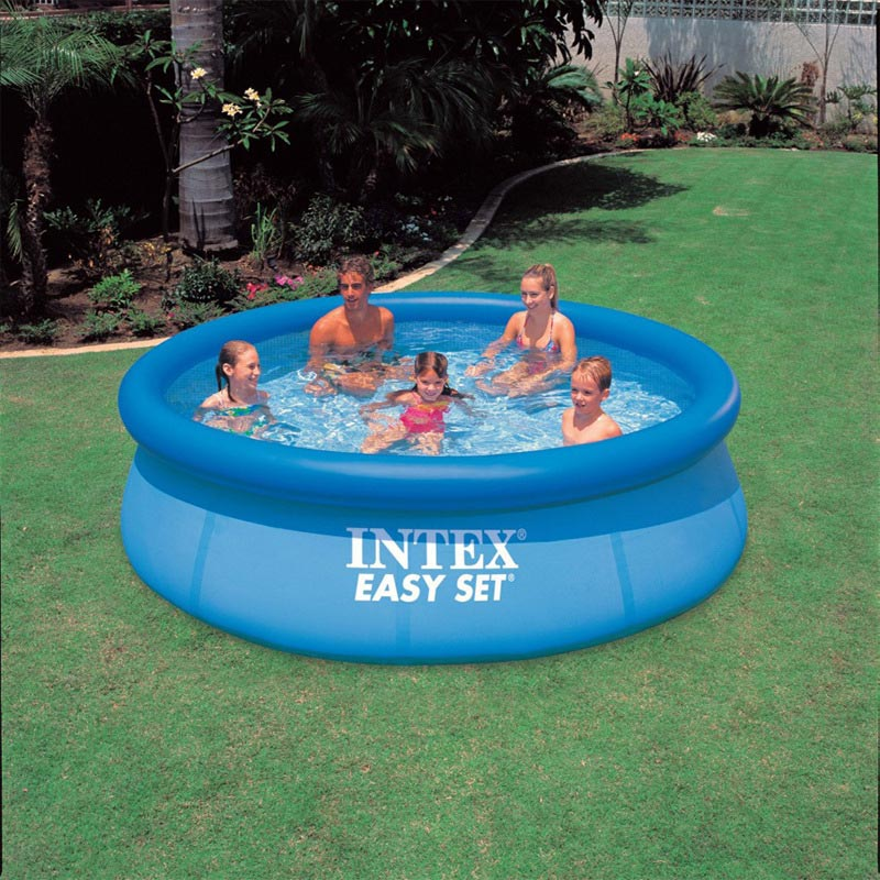 intex 28120 56920 swimming pool 305 76cm summer play swimming inflatable pool above ground pool. Black Bedroom Furniture Sets. Home Design Ideas