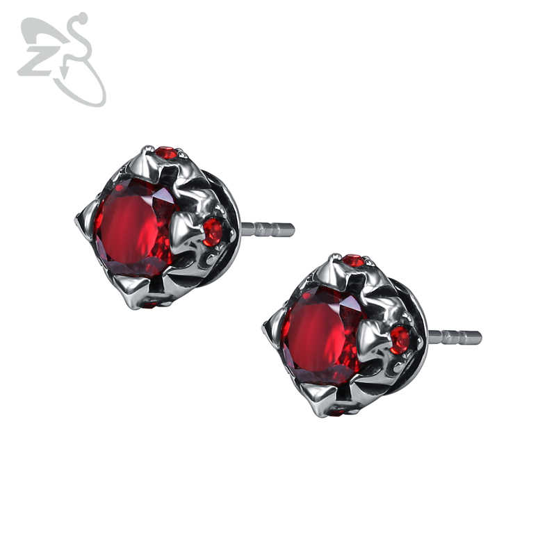 5e04ca136f3c5 Detail Feedback Questions about ZS Red Cubic Zirconia Stud Earrings ...