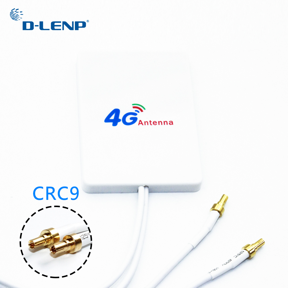 Dlenp 3G 4G Antenne Esterne WiFi Rotuter 4G LTE Antenna con CRC9 per Huawei 3G 4G LTE Modem Router Antenna con 3 m cavo
