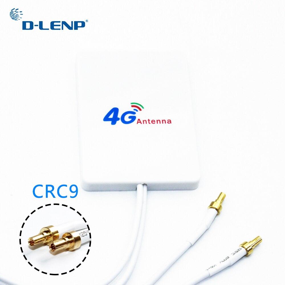 Dlenp 3G 4G Externe Antennen WiFi Rotuter 4G LTE Antenne mit CRC9 für Huawei 3G 4G LTE Router Modem Antenne mit 3 mt kabel
