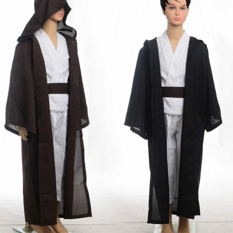 Child Star Wars Obi Wan Kenobi Costume Super Deluxe Jedi Robe Warrior Costume Kids Fantasia Halloween Carnival Party Fancy Dress