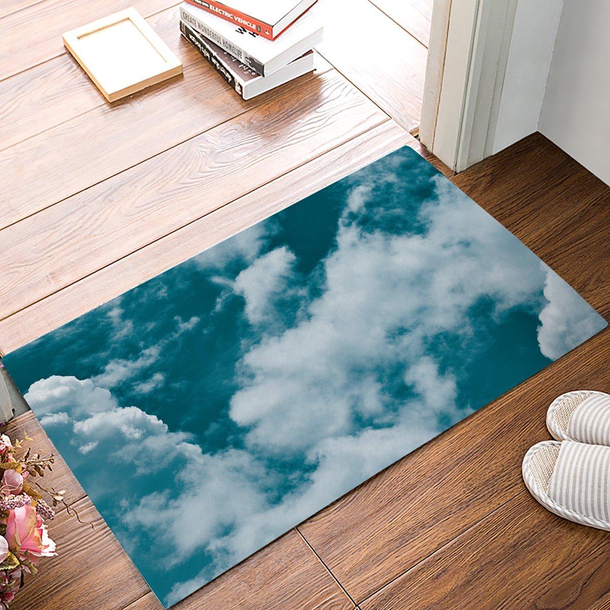 Blue Kitchen Floor Mats: Blue Sky Door Mats Kitchen Floor Bath Entrance Rug Mat