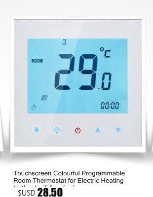 Haushaltsgeräte Touchscreen Bunte Programmierbare Raumthermostat Für Wasser Fußbodenheizung Sml-1000ga ohne Wifi Funktion