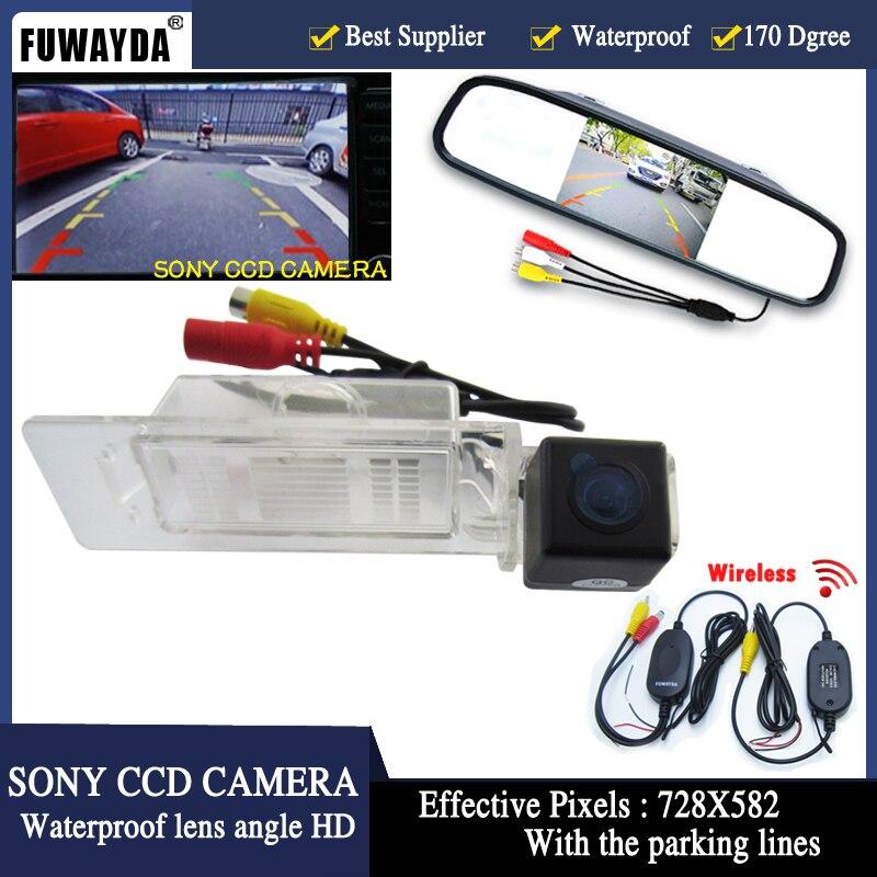 """FUWAYDA CCD parkovací monitory LED noční vidění auto zadní kamera 4.3 """"auto zpětné zrcátko pro KIA K5 Optima 2010 2011"""