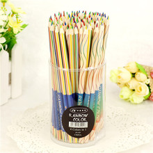 Rainbow-Color Pencil Drawing School-Supplies for Stationery Office-Material 4-In-1 10pcs/Lot