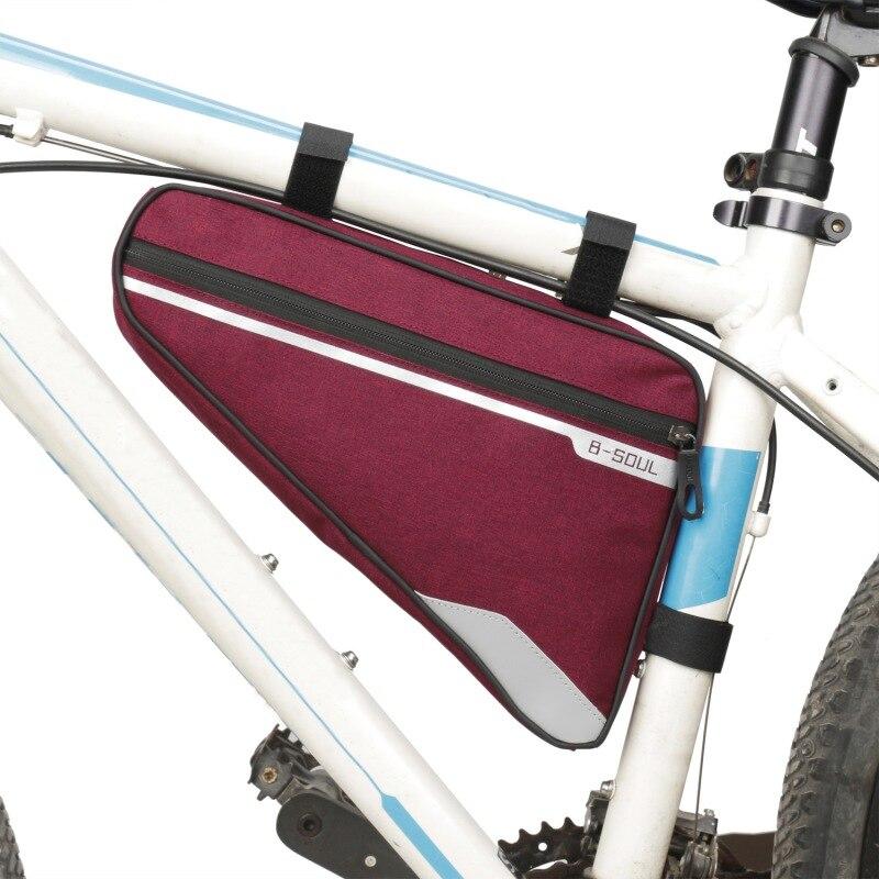 b62e1ef16b7 Bicicleta ciclismo bolso tubo delantero marco teléfono impermeable bicicleta  bolsas triangular bolsa marco accesorios Bycicle