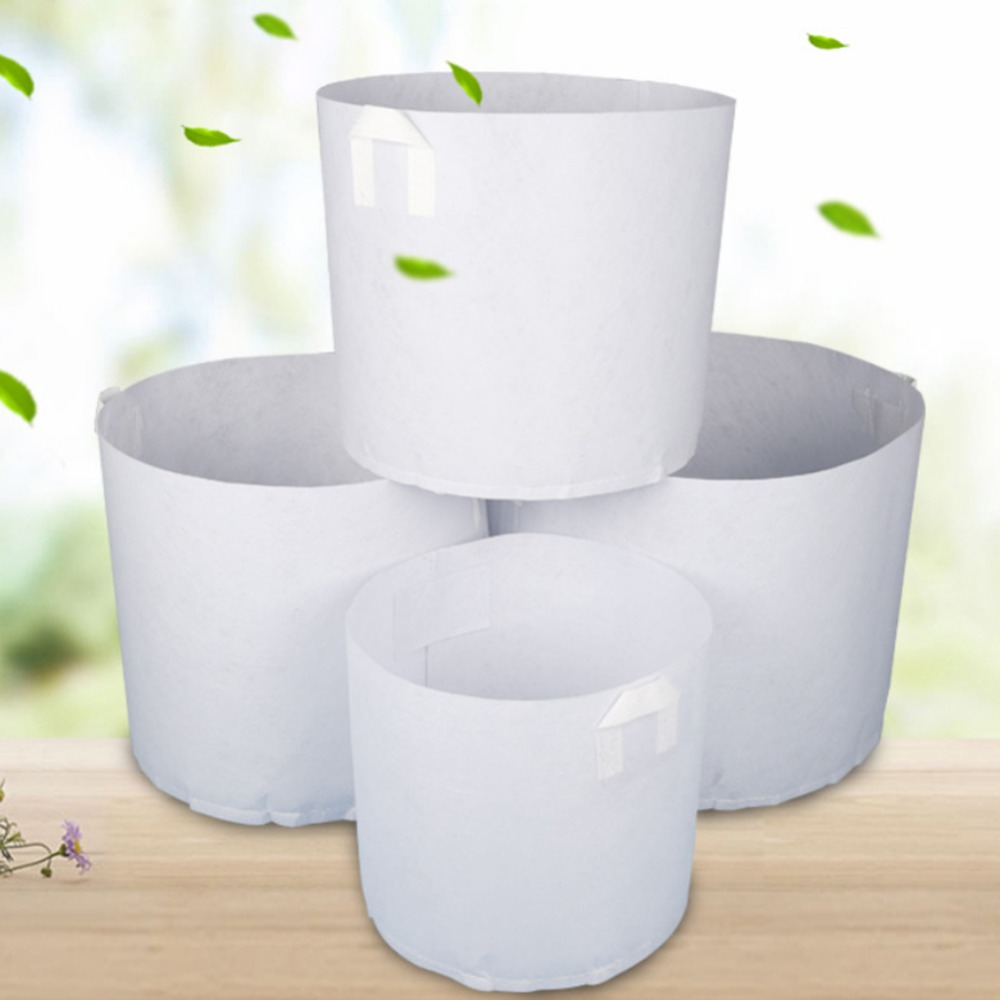 Grow Bags 10pcs/set Non Woven Tree Fabric Pots Grow Bag Root Container Plant Pouch With Hand Planting Flowers Non Woven Bags Grows Culture