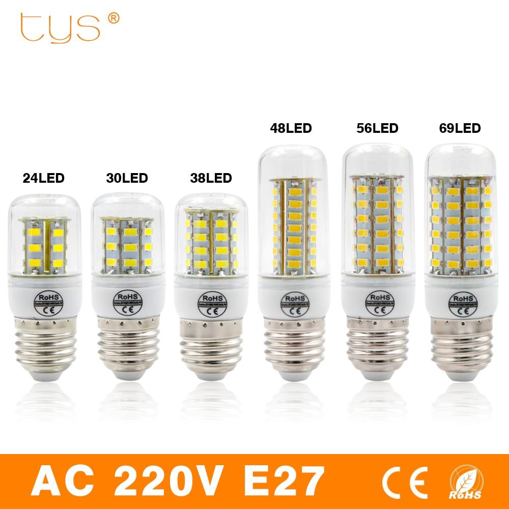 LED Lamp E27 220V Led bulb Corn Light 24 36 48 56 69LEDs SMD 5730 Bombillas lamparas Lampada de LED Ampoule Lighting