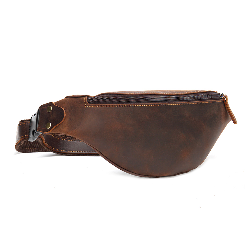 Men Vintage Genuine Leather Fanny Women Retro Waist Pack Bum Belt Bags Classic Simple Zipper Purse Mobile Cellphone OrganizerMen Vintage Genuine Leather Fanny Women Retro Waist Pack Bum Belt Bags Classic Simple Zipper Purse Mobile Cellphone Organizer