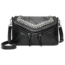 Leather Sequin women bags genuine leather shoulder messenger bag sac a main femme brand sale 2019 ladies package все цены