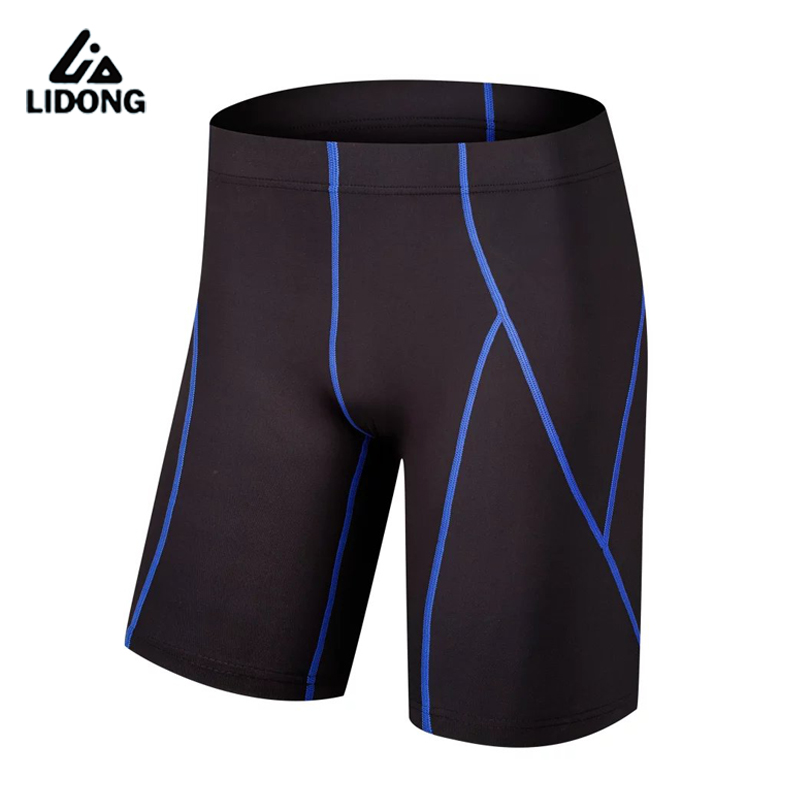 LIDONG New Men Running Shorts Gym Fitness Compression Football Basketball Shorts Tights Breathable Sports Underwear Shorts