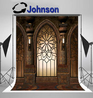 vintage window gothic gate light backdrop Vinyl cloth High quality Computer print wedding photography backgrounds