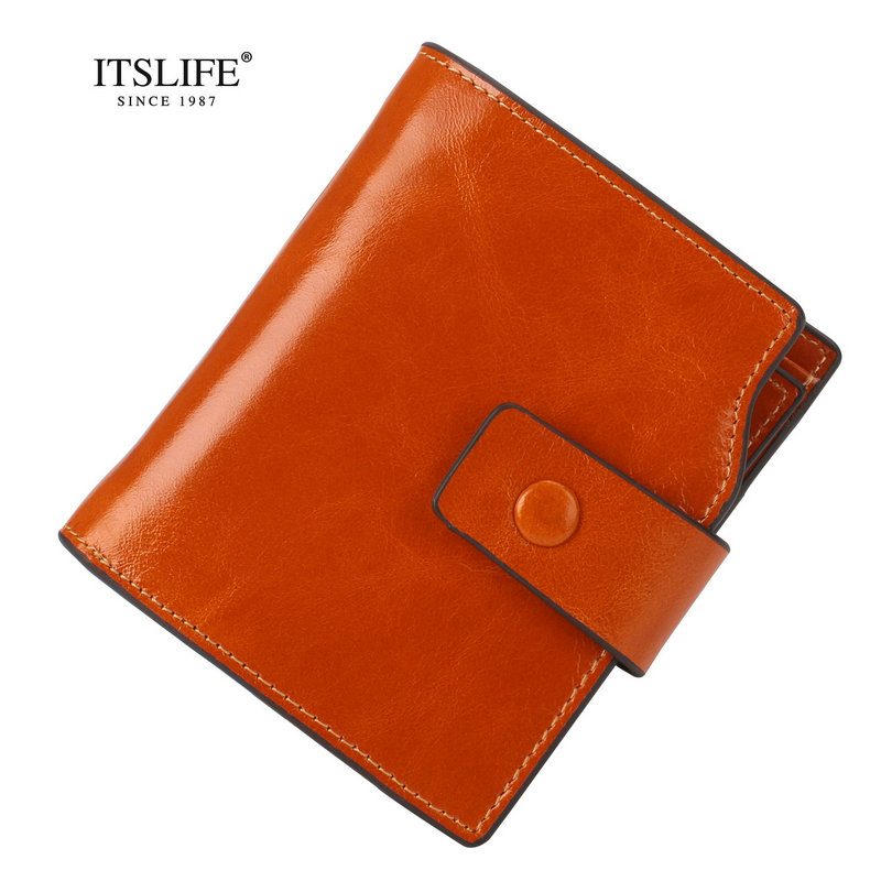Itslife Genuine Leather Women Wallets RFID Blocking 2018 New Design High Quality Fashion G