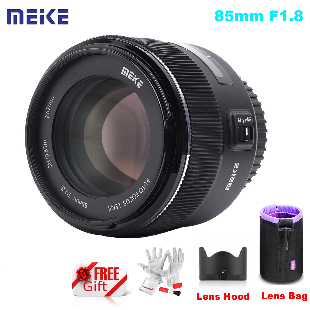 Meike 85mm F/1.8 AutoFocus Aspherical Medium Telephoto <font><b>Lens</b></font> Bag for Full Frame <font><b>Canon</b></font> EOS EF Mount 5D Mark iV 6D 7D 60D <font><b>80D</b></font> 600D image