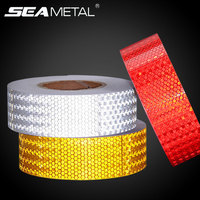 Car Stickers Reflective Tape 37m 5cm Warning Reflector Adhesive Strips Safety Mark Tapes Car Styling External