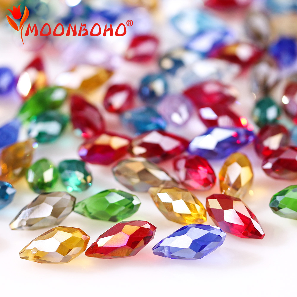 6*12mm Austria Diy Beads Mix Color Teardrop Glass Beads for Jewelry Making Crystal Waterdrop Beads handicraft accessories