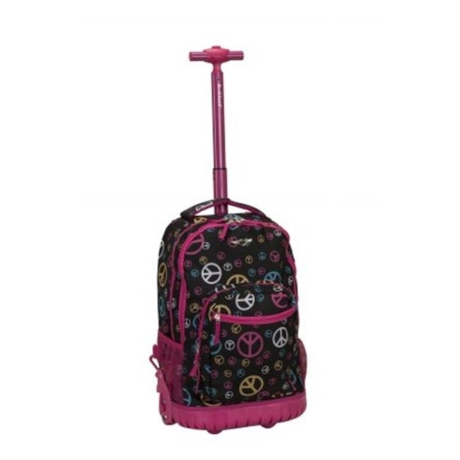 Rockland R02-PEACE 19 in. ROLLING BACKPACK - PEACE peace