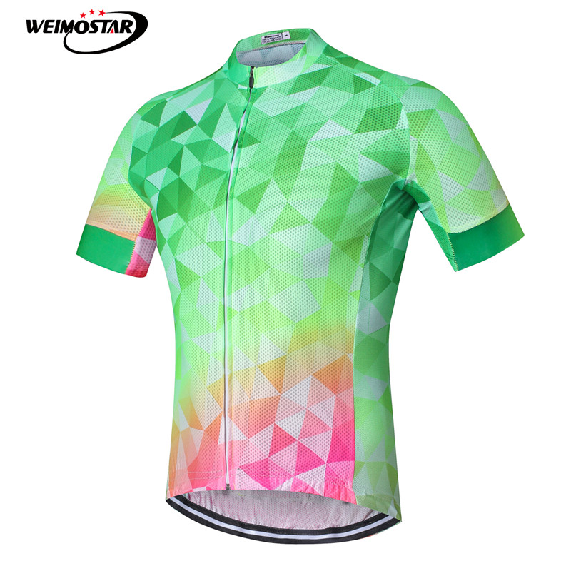 2018 Men Cycling Jersey Ropa Ciclismo Cycling Wear Shirts Green White Short Sleeve Cycling Clothing Bike Jersey Black Elegant In Smell