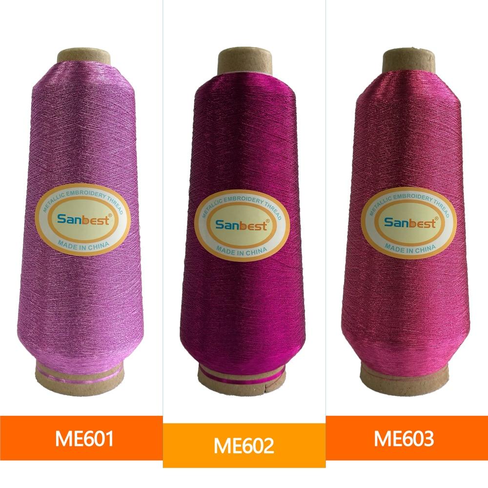 Hilo metálico bordado púrpura / rosado de Sanbest para Brother - Artes, artesanía y costura