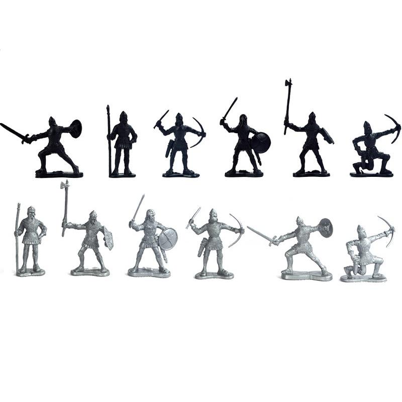 60 հատ / սահմանել միջնադարյան ռազմական - Խաղային արձանիկներ - Լուսանկար 4