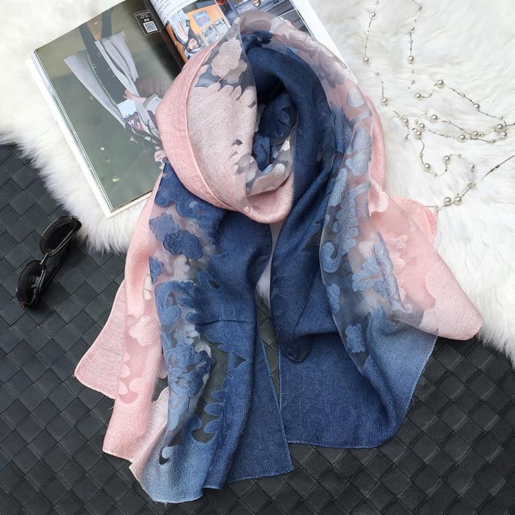 Hot Sale Pretty Shadow Lace Scarves Shawls Muslim Hijab -6206