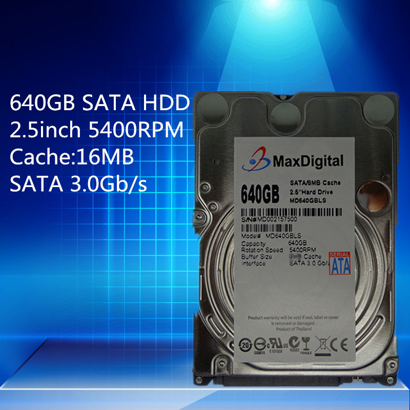 2.5inch HDD 640GB 5400RPM 16MB  SATA Internal Hard Disk Drive For Laptop Notebook Warranty for 1-year new and retail package for 454273 001 mb1000ecwcq 1 tb 7 2k sata 3 5inch server hard disk drive 1 year warranty