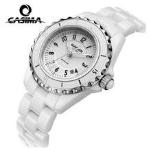 Luxury brand Women's Bracelet Watches dazzle beauty space ceramic girls quartz wrist watch female white CASIMA#6702